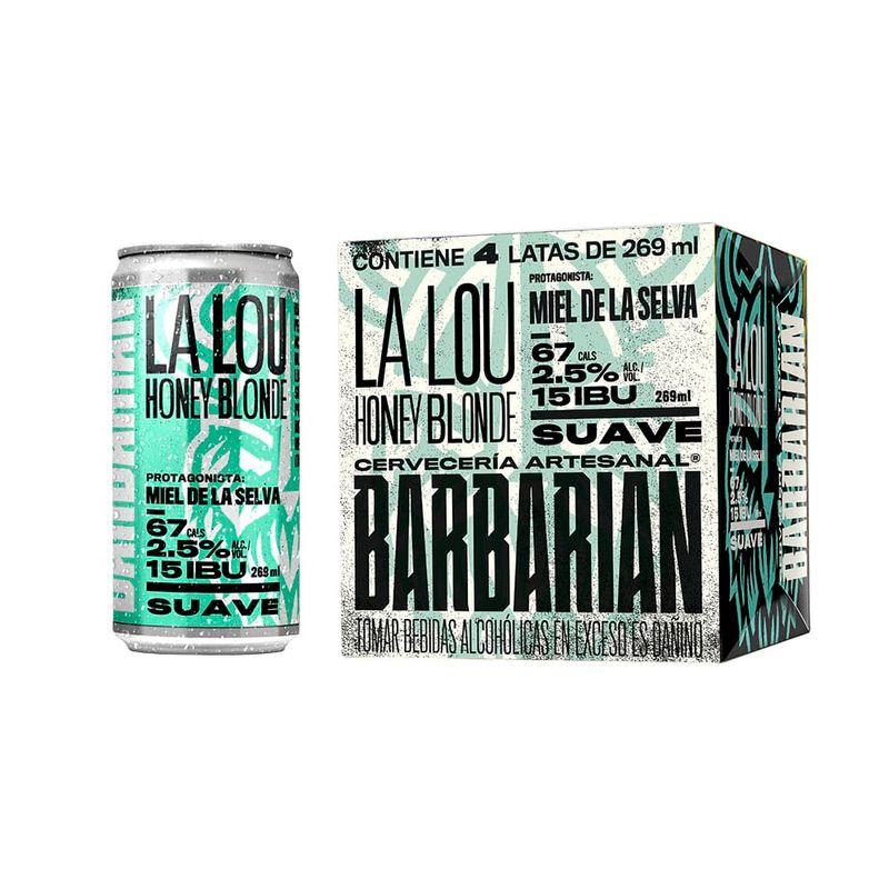 Barbarian La Lou - Lata (269ml) - Pack x 4 - Backusya.pe