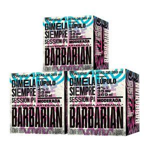 3 Fourpacks Barbarian Dámela Siempre Lata (269ml)