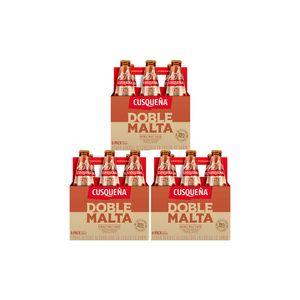Combo 3 Cusqueña Doble Malta Botella (330ml) Pack x 6