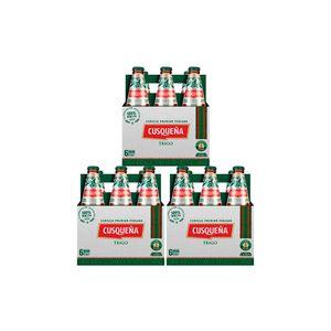 3 Sixpacks Cusqueña Trigo Botella (310ml)