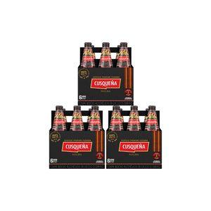 3 Sixpacks Cusqueña Negra Botella (310ml)