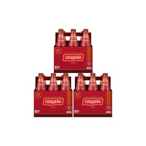 Combo 3 Cusqueña Roja Botella (310ml) Pack x 6