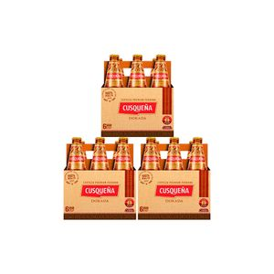 Combo 3 Cusqueña Dorada Botella (310ml) Pack x 6