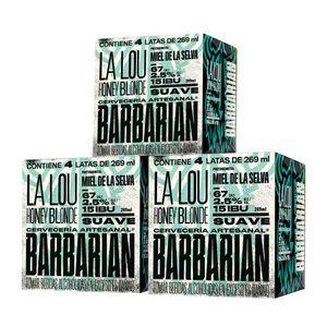 3 Fourpacks Barbarian La Lou Honey Blonde Lata (269ml)