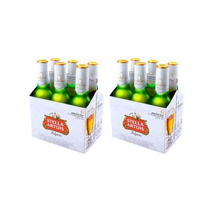 2 Sixpacks Stella Artois Botella (330ml)