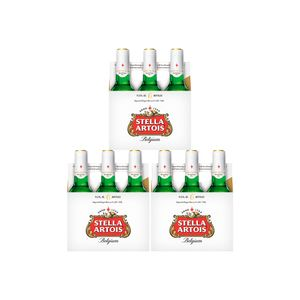 3 Sixpacks Stella Artois Botella (330ml)