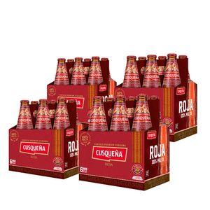 4 Sixpacks Cusqueña Roja Botella (310ml)