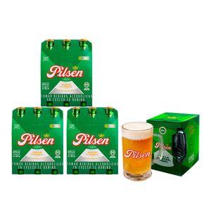 3 Sixpack Pilsen Callao Botella (305ml) + Chopp Pilsen Callao