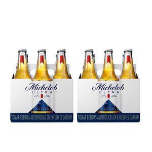 2 Sixpacks Michelob Ultra Botella (355ml)
