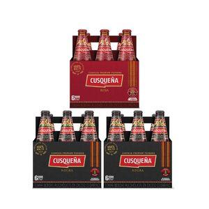 2 Sixpacks Cusqueña Negra Botella (310ml) + Sixpack Cusqueña Roja Botella (310ml)